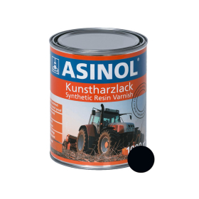Dose mit teerschwarzem Lack RAL9021 stumpfmatt