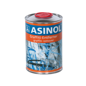 Tin with graffiti remover