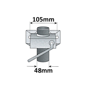 Car trailer accessory set: support wheel, supports, clamp, wedges incl. holder, box securing device, lock and adapter incl. fixing material
