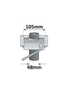 PKW-Anhänger Zubehörset: Stützrad, Stützen, Klemmhalter, Keile mit Halter, inkl. Befestigungsmaterial