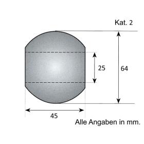 Unterlenker Kugel Kat. 2 / Sondermaß Oberlenker 25,4mm