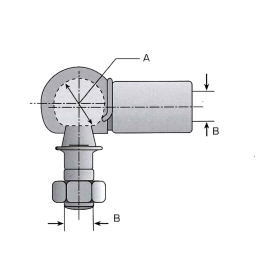 Angle joint M6