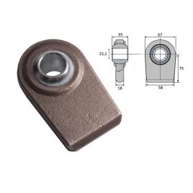 Kugelgelenk zum Anschweißen für Unterlenker 22,1 mm...