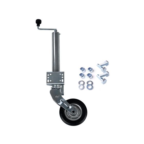 vollautomatisch klappbares Sützrad 400 kg verzinkt mit Vollgummirad inkl. Befestigungsmaterial