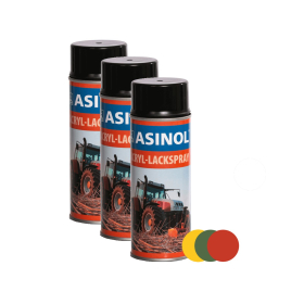 Acrylic paint spray construction and agricultural machinery