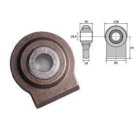 Kugelgelenk zum Anschweißen für Unterlenker 28,4 mm...