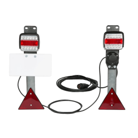 LED trailer lighting completely wired in different versions.