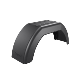 black fender 180 x 610 mm made of plastic for car trailers