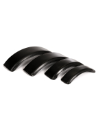black mudguards for tractor front wheels made of plastic