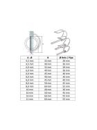 Tube folding pins galvanized steel