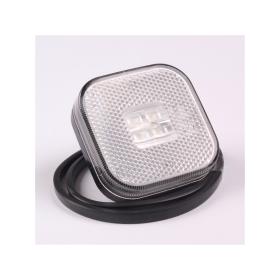 white LED marker light 62 x 62 mm with 4 LEDs