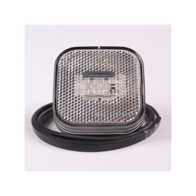 2 pieces white LED marker light 62 x 62 mm with 4 LED's