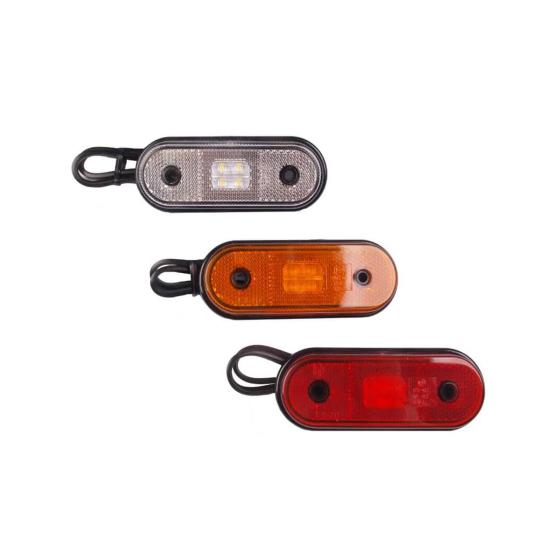 LED marker lights in white, orange or red. 12-36V