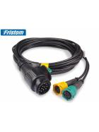 LED Rückleuchten 12V / 24V dynamische Blinker, 5 m Kabelsatz mit 13 pol. Stecker