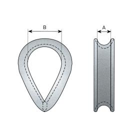 13 mm - rope Ø thimbles