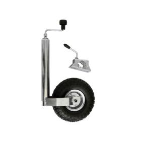 luftbereiftes 150 kg Stützrad inkl. Klemmhalter für PKW Anhänger