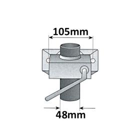 150 kg Stützrad luftbereift 260x85mm inkl. Klemmhalter