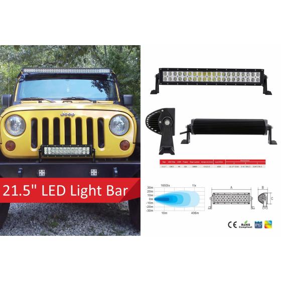 21,5 Zoll LED Lichleiste mit 40 Stück 3 Watt LED's und 10-30V.