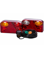 Rear lights trailer set 5 m cable set with 13 pin plug