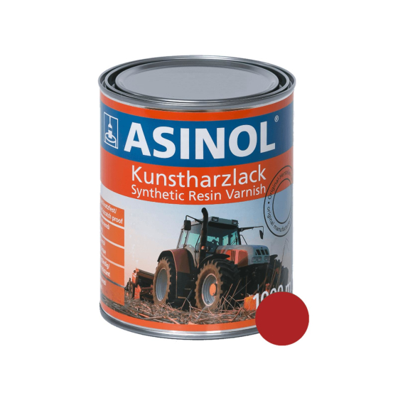 Dose mit rotem Lack RAL 3000 feuerrot