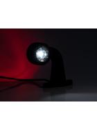 2x LED Umrissleuchte / Begrenzungsleuchte 12-30 V abgewinkelt