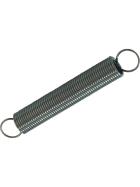 verzinkte ein Meter langer Zugfedern mit einem Durchmesser von zehn bis fünfundzwanzig Millimetern und einer Drahtstärke von einem bis zu vier Millimetern.
