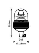 LED Rundumleuchte 12V / 24V mit flexiblem Fuß 18 LEDs x 3 Watt