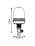 LED Rundumleuchte 12V / 24V mit flexiblem Fuß 24 LEDs x 3 Watt