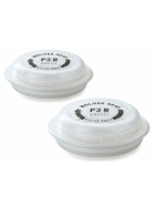 2 Stück Moldex EasyLock Partikelfilter P3R als Ersatz für die Halbmasken der 7000er Serie.