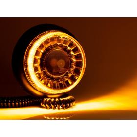 gelbe LED Rundumleuchte mit 0,6 m Spiralkabel mit...