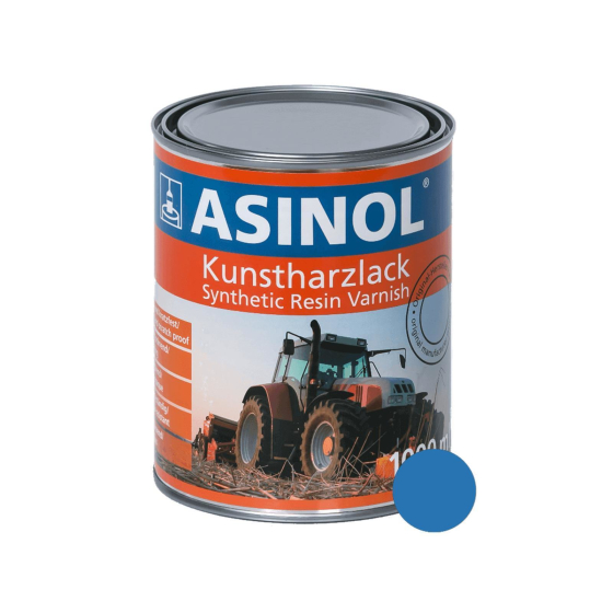 Dose mit himmelblauer Farbe RAL 5015