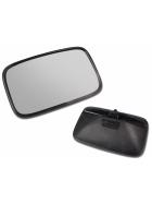 Universal einsetzbarer Rückspiegel mit den Abmessungen 425x205mm und einer gültigen E-Zulassung.