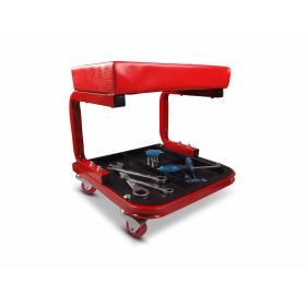 Werkstatthocker mit drei Ablagefächern für Werkzeuge und...
