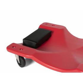 Rotes Werkstattrollbrett aus Kunststoff mit...