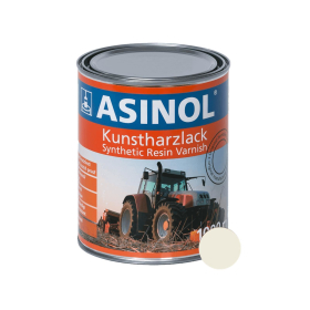 Dose mit cremeweisser Farbe RAL 9001