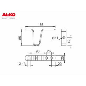 hot-dip galvanized drawbar support from the AL-KO company...