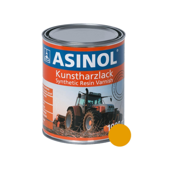 Can with yellow paint for Bomag rollers RAL 1007