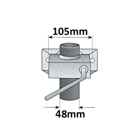 600 mm Stützfuß Set komplett mit Klemmhaltern - verzinkt