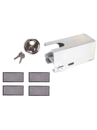 Anti-theft device galvanised, incl. discus lock and 4 reflectors White