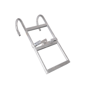 Access ladder with 3 non-slip steps galvanised