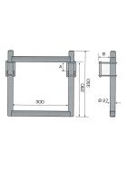 Drawbar access for one drawbar beam maximum 75mm - incl. accessories