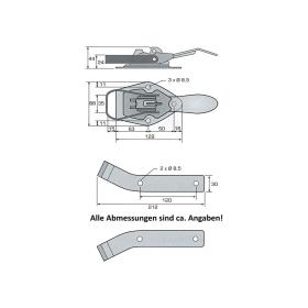 Tailgate lock set - 2 tailgate locks and 2 counter holders