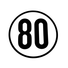 Speed sign 80 km/h