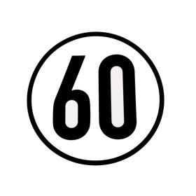 Speed sign 60 km/h