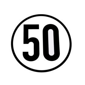 Speed sign 50 km/h