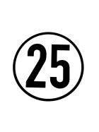 Speed sign 25 km/h