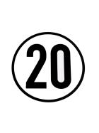 Speed sign 20 km/h