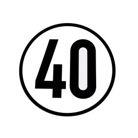 Speed sign 40 km/h