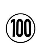 Speed sign 100 km/h