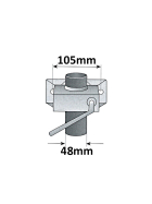 150 kg Stützrad mit Drucklager inkl. Halter, Unterlegkeil, Halterung